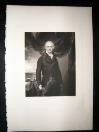 After Thomas Lawrence 1846 Folio Mezzotint Portrait. Samuel Shepherd
